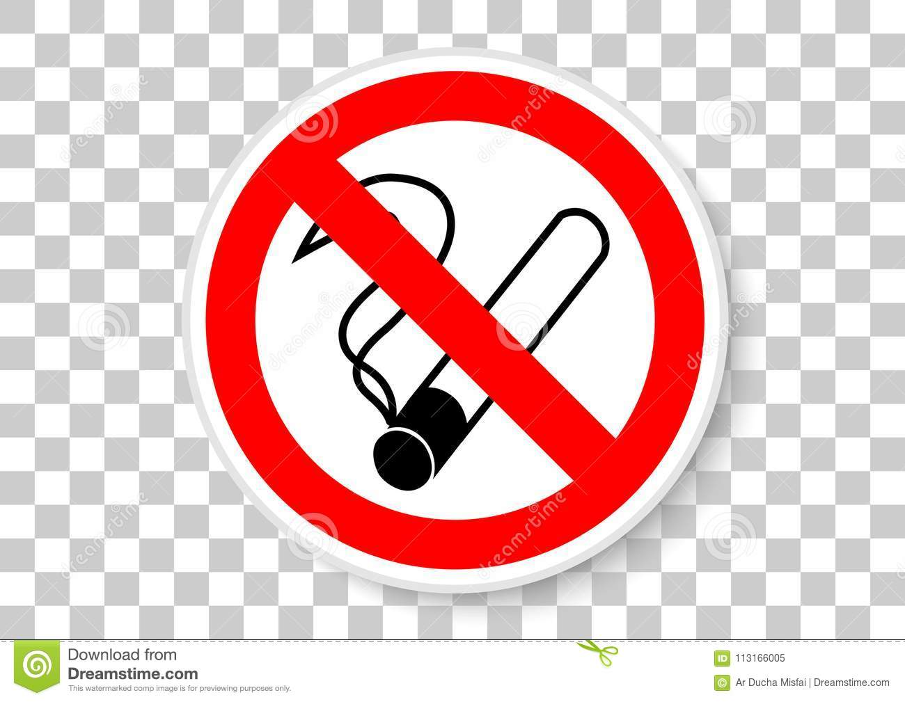 No Smoking Sign Stock Vector Illustration Of Material 113166005
