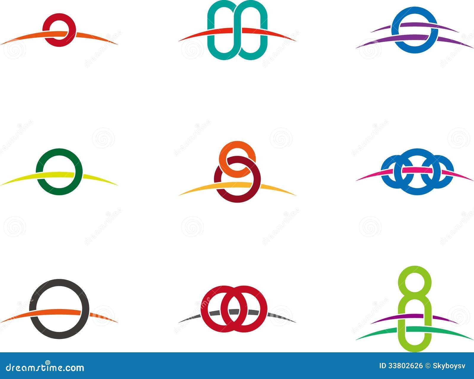 design vector round logo template stock vector image. Black Bedroom Furniture Sets. Home Design Ideas