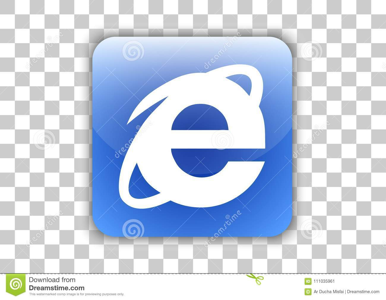 Internet Explorer Software Browser Icon Button With Symbol Inside