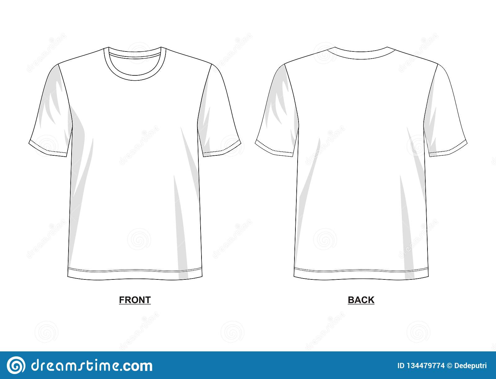 ce494c48 Design Vector T Shirt Template Stock Vector - Illustration of ...