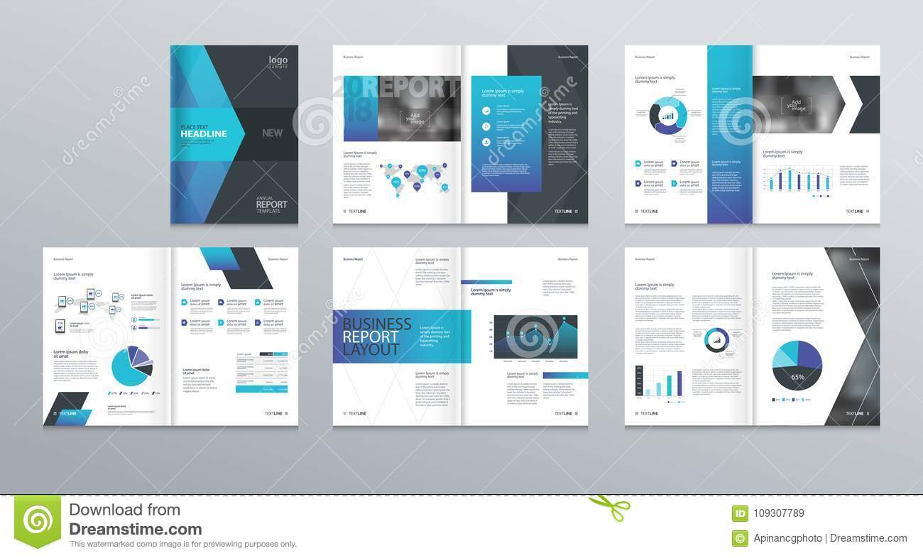 Design Vector Template Layout For Company Profile  Annual Report With Cover  Brochures  Flyers
