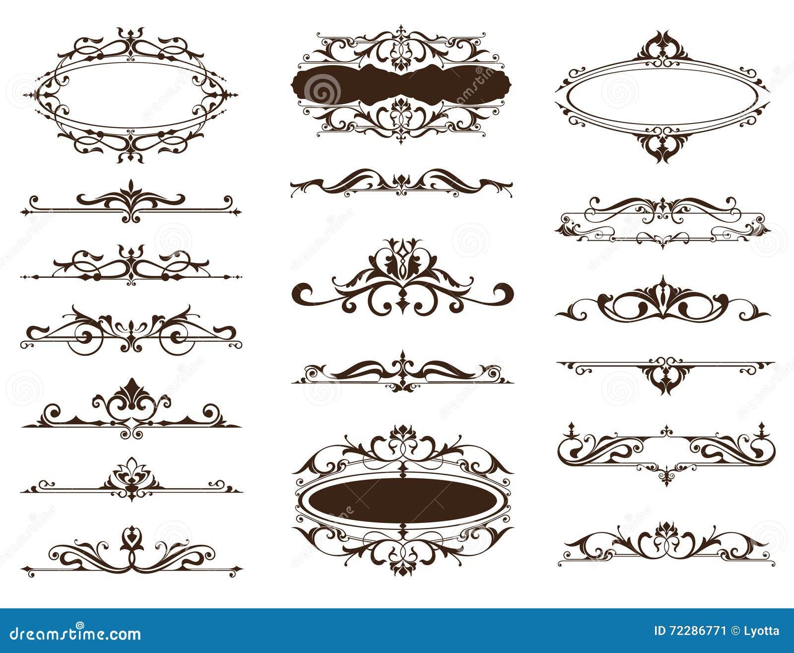 Design vintage ornaments borders frames corners stock for Design ornaments
