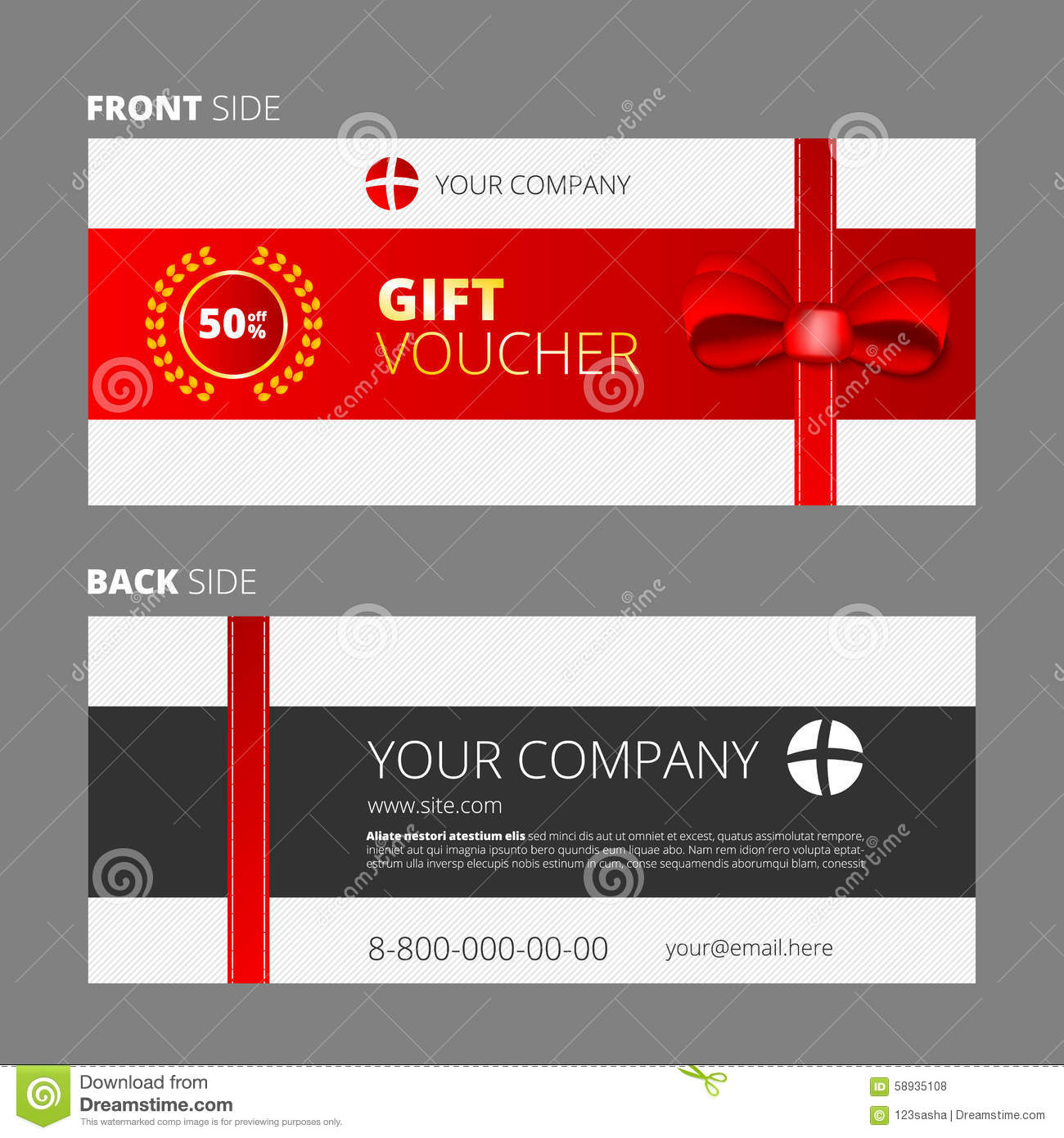 Design of voucher and gift certificate stock vector for Create a coupon template free