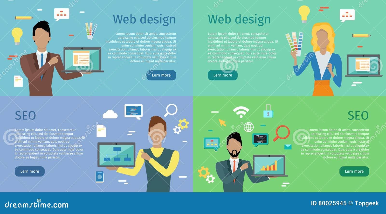 Design web, SEO Infographic Set