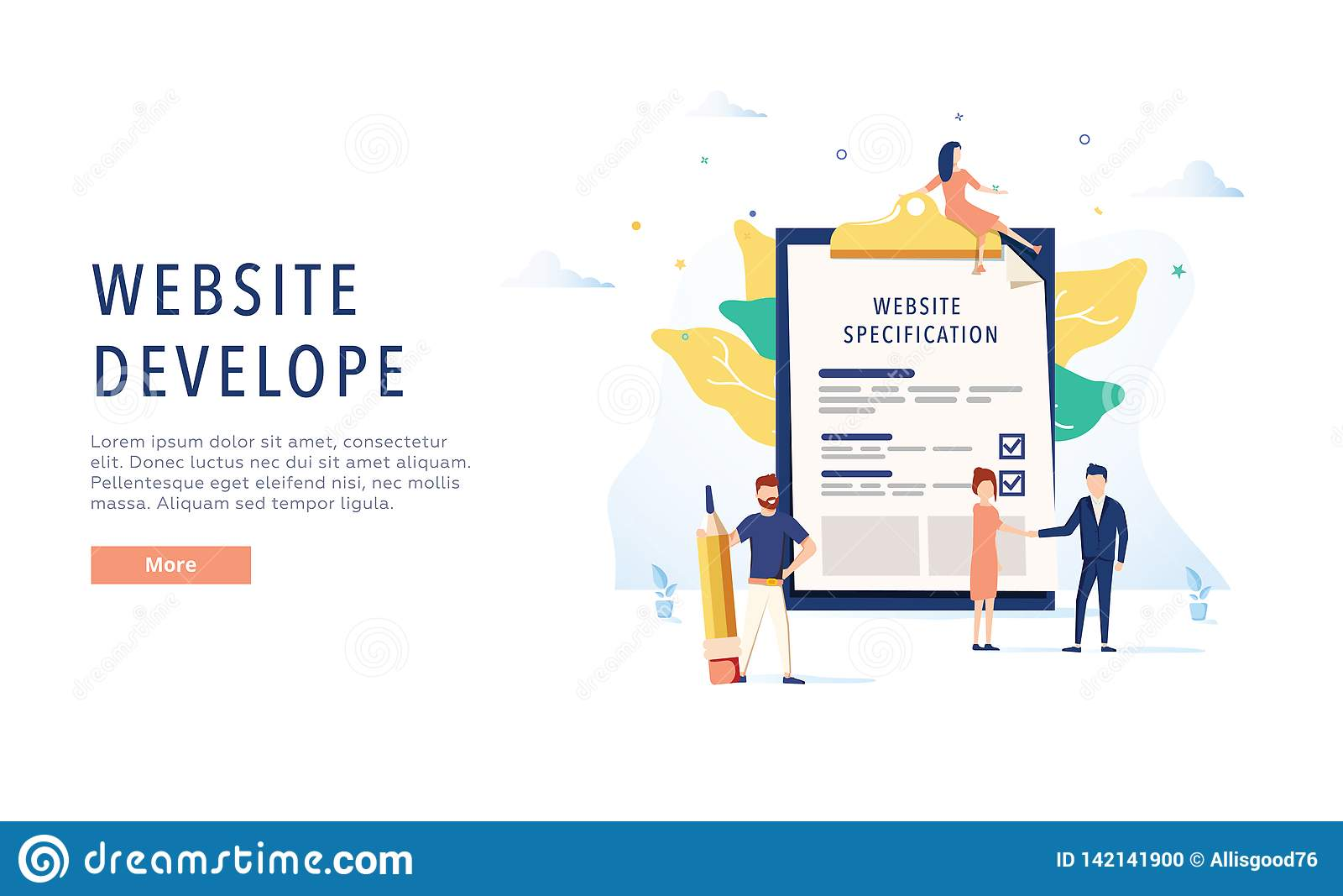 The Design Of The Web Site  Website Specification Web Banner