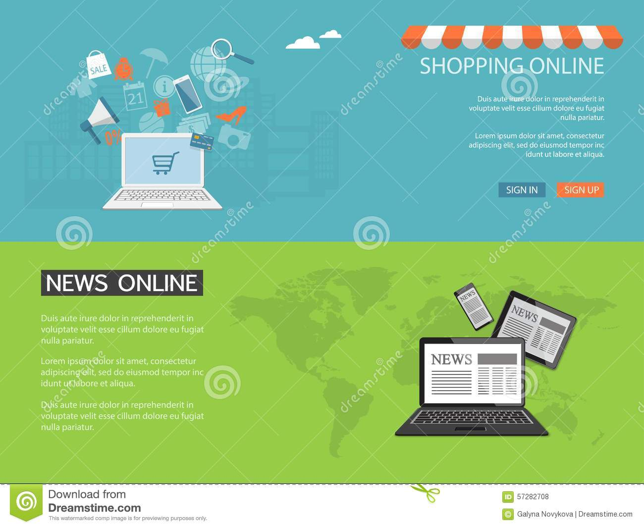 Design for website of news shop store online stock for New online shoping site