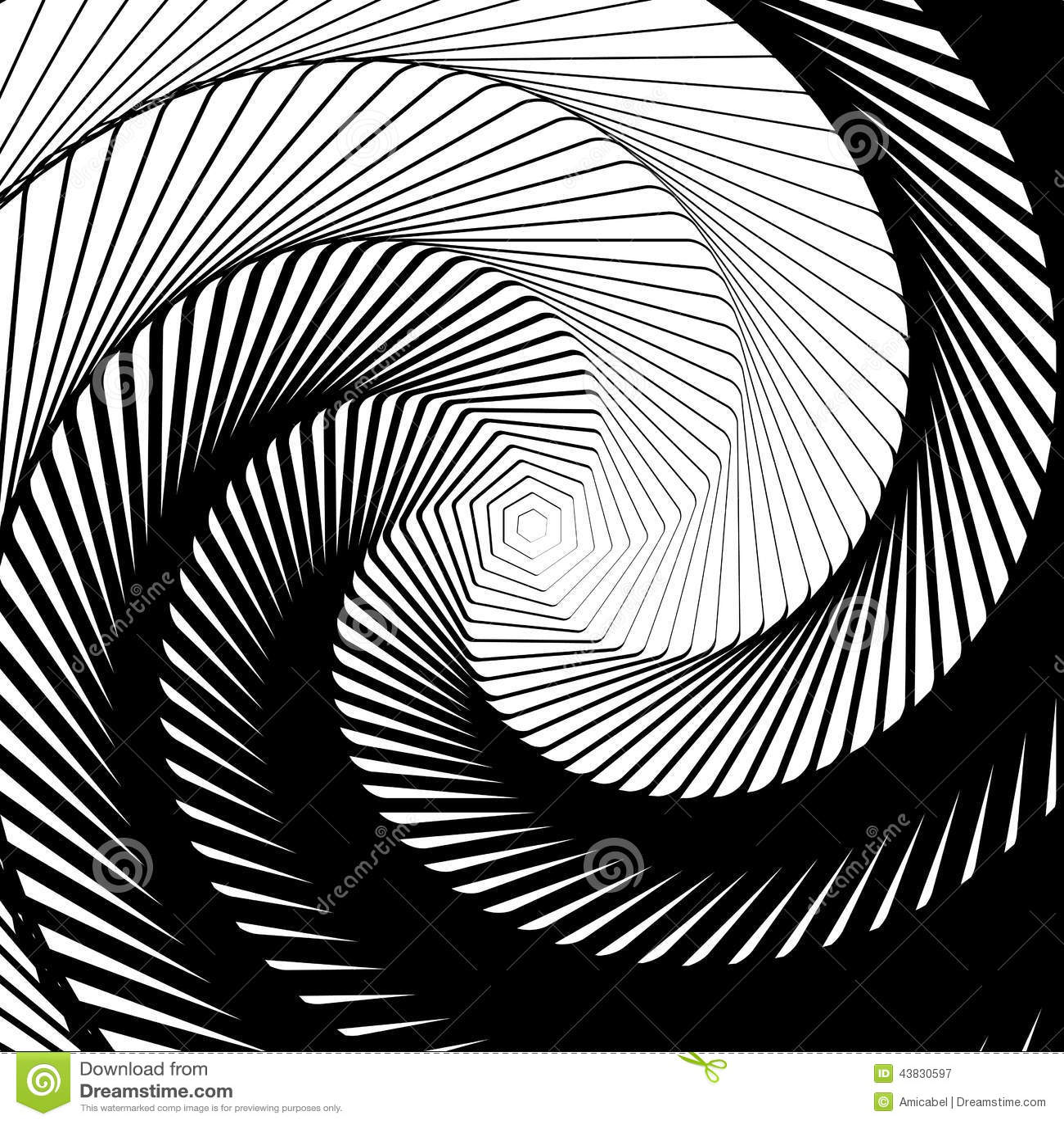 Design whirlpool movement illusion background stock vector for Geometric illusion art