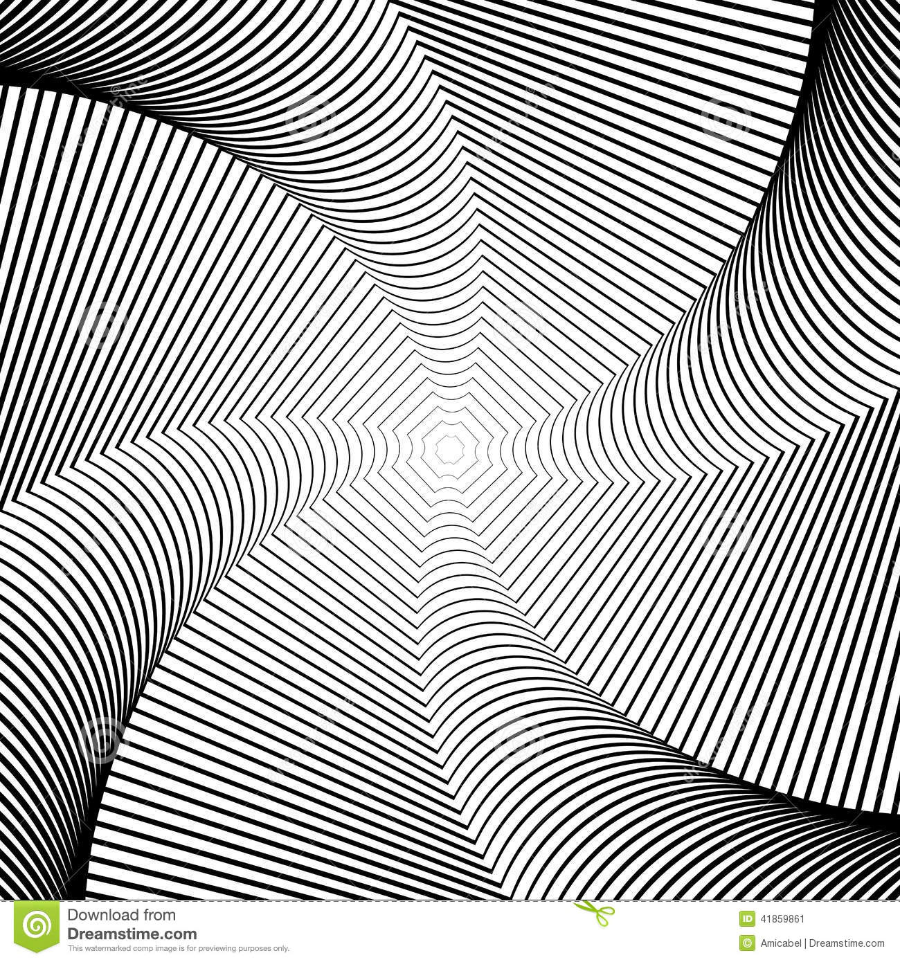 Line Art Movement : Design whirlpool movement illusion background stock vector