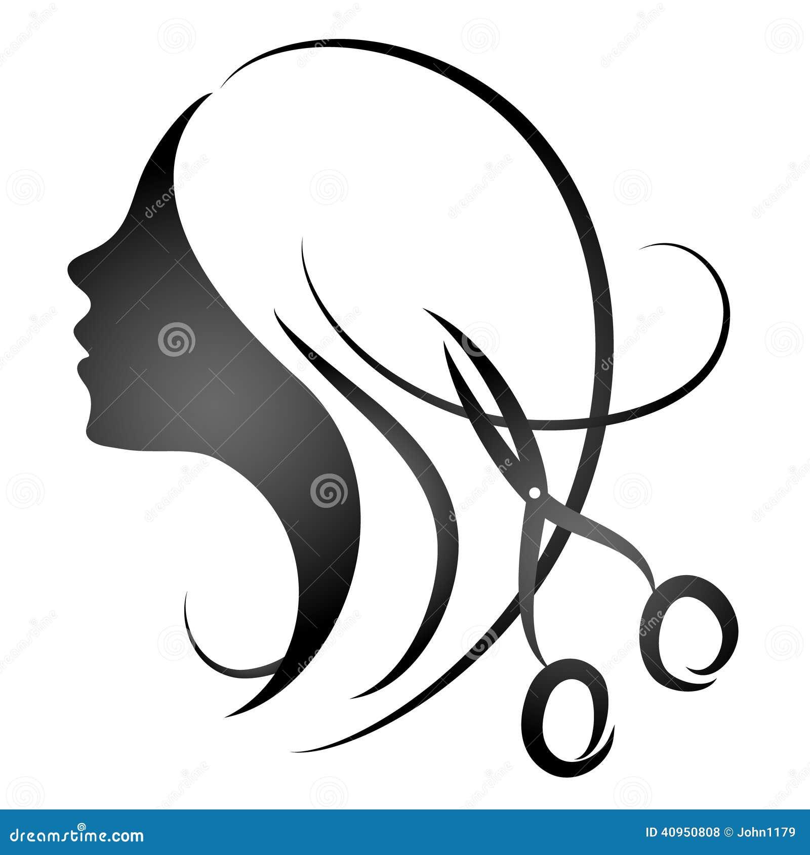 Design For Womens Hairdressing Salon Stock Vector - Image: 40950808