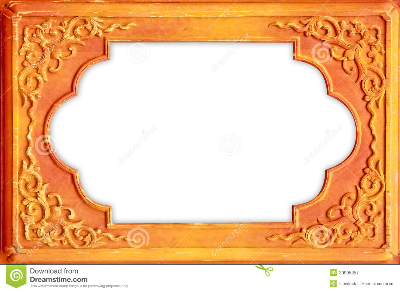 Design On The Wooden Frame Stock Image Of Decorate