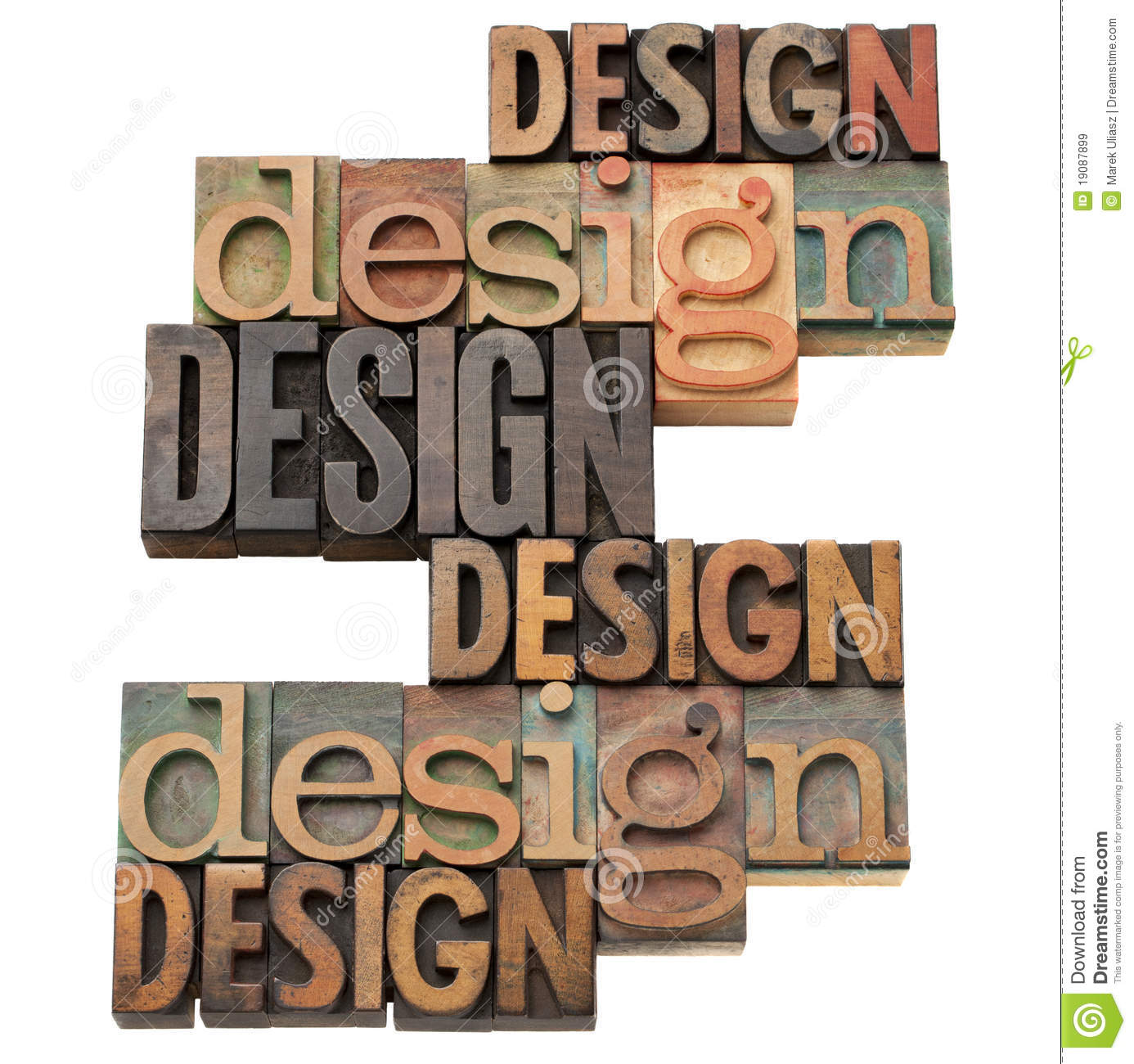 Design Word Collage Royalty Free Stock Images - Image: 19087899
