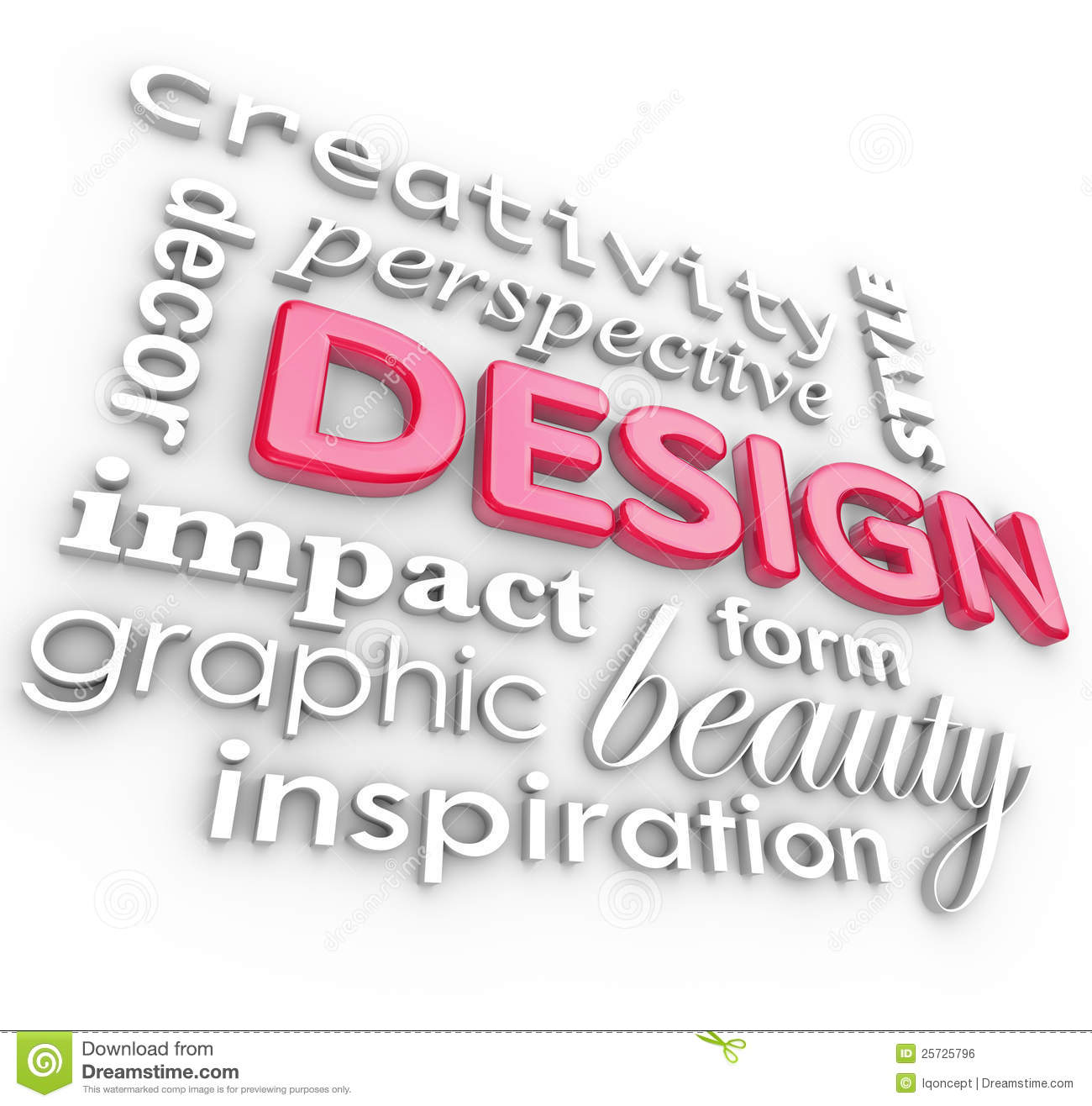 Design words collage creative perspective style royalty free stock image image 25725796 for Microsoft word graphic design