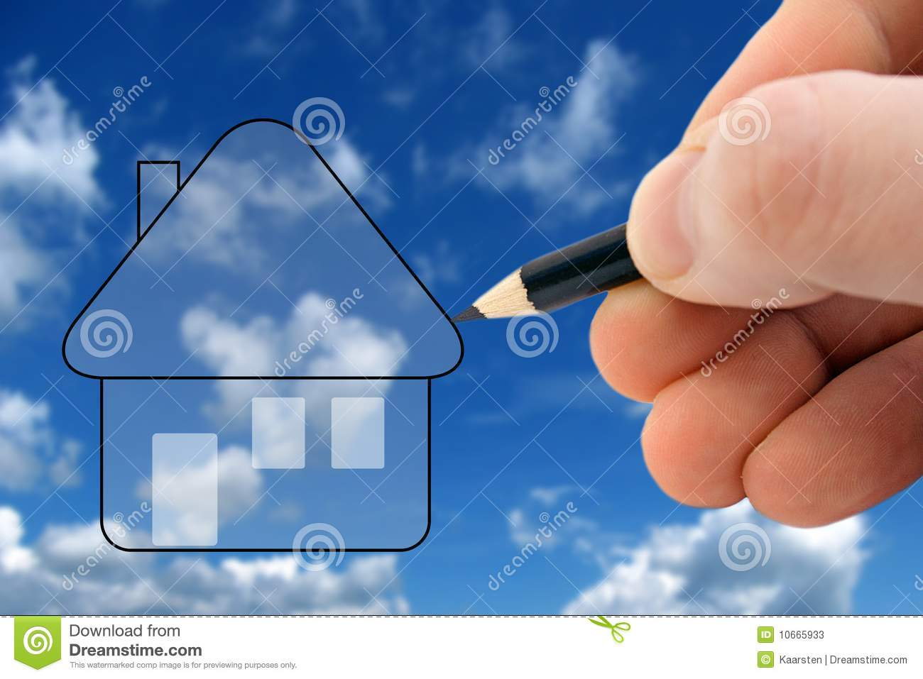 Design your dream house stock photos image 10665933 Create your dream house online