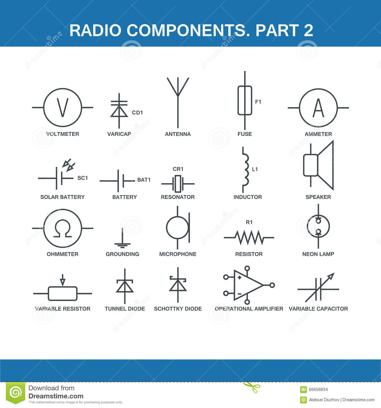 designation of components in the wiring diagram stock illustration designation of components in the wiring diagram