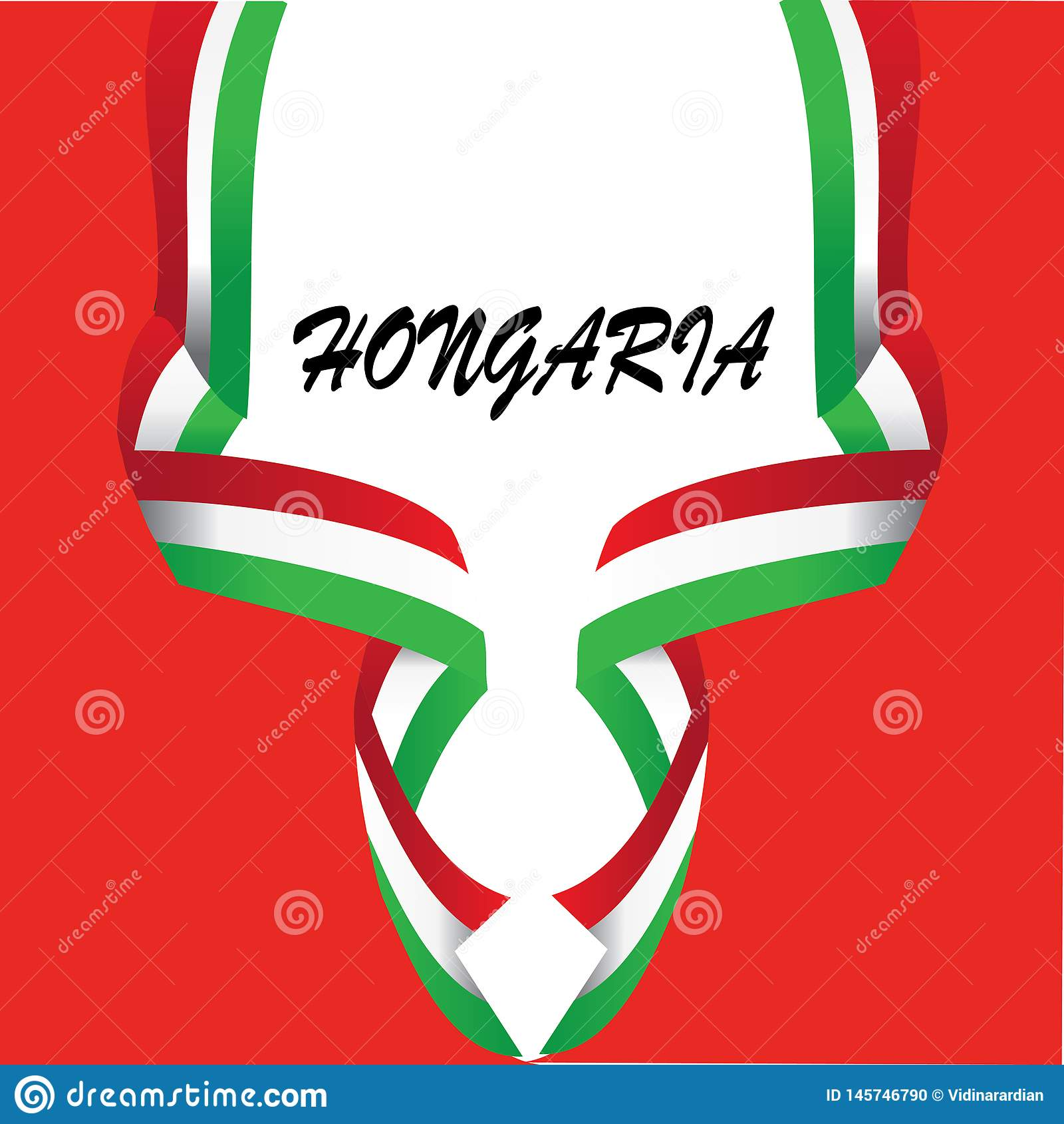 Designbest?ndsdel f?r HONGARIA-nationsflaggan - vektor