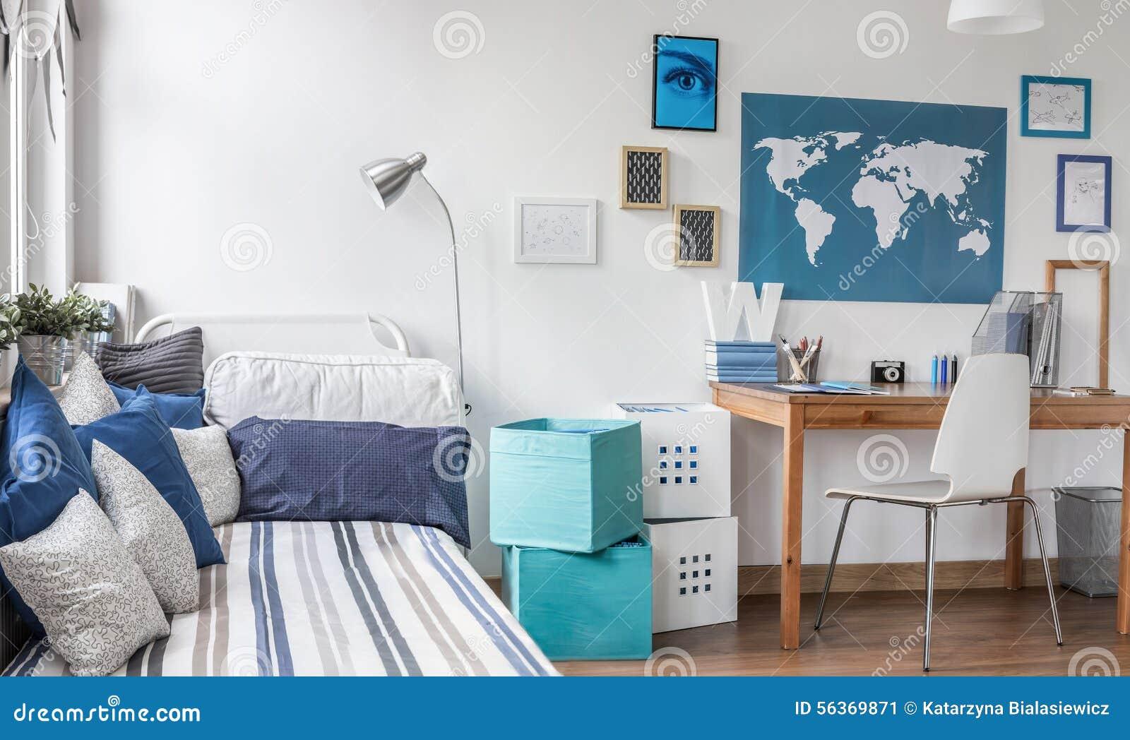 Teenager Room Interior Design Realistic Image Cartoon