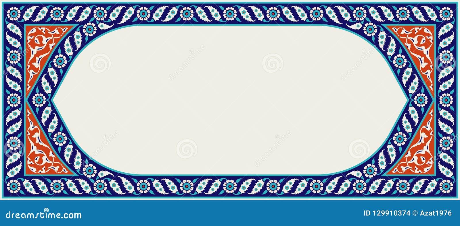 Designen tycker om den din blom- ramen fullt Traditionell turkisk prydnad för ottoman för ï¿ ½ Iznik