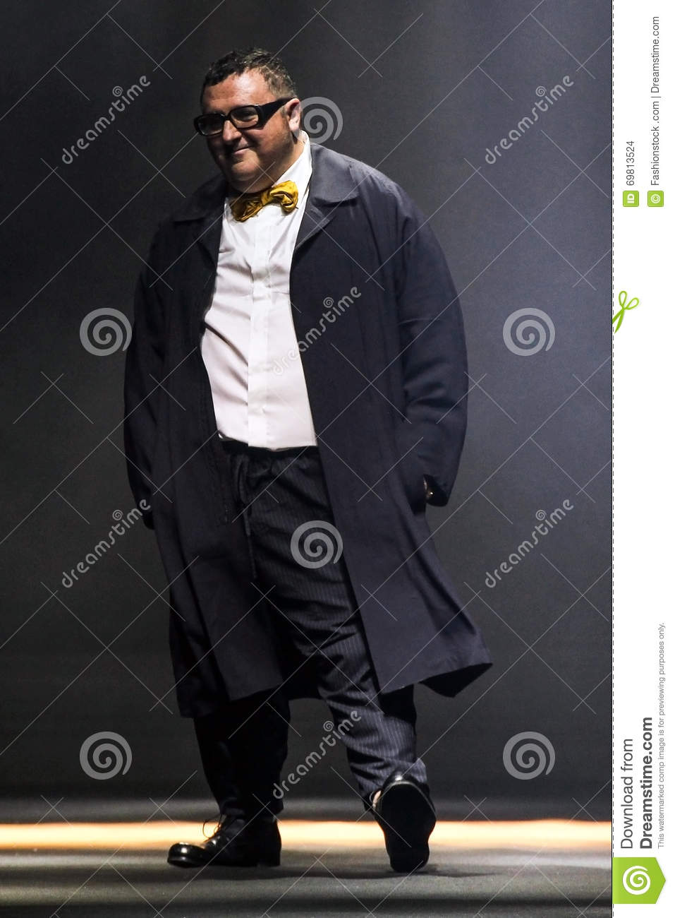 dc3ca2ac6be Designer Alber Elbaz Walks The Runway During The Lanvin Show ...