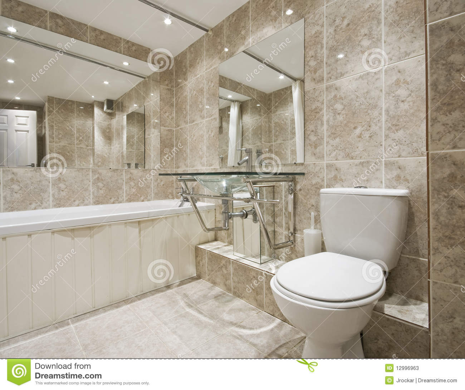 Designer Bathroom Stock Image Image Of Luxury Estate