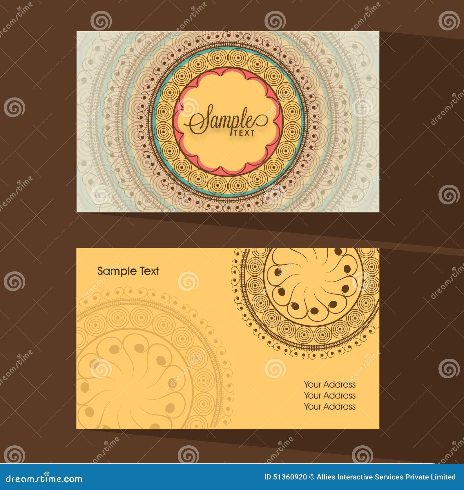 Designer Business Or Visiting Card Set. Stock Illustration ...