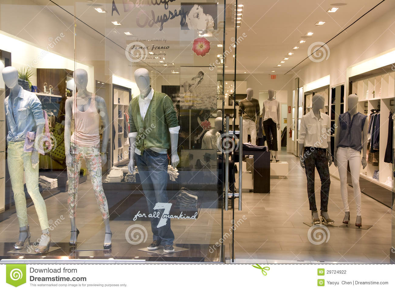 clothing fashion store interiors editorial photography image of