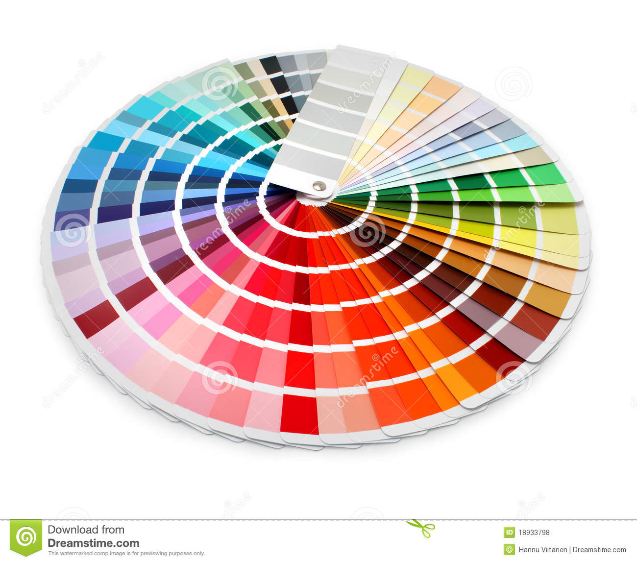 Designer color chart spectrum