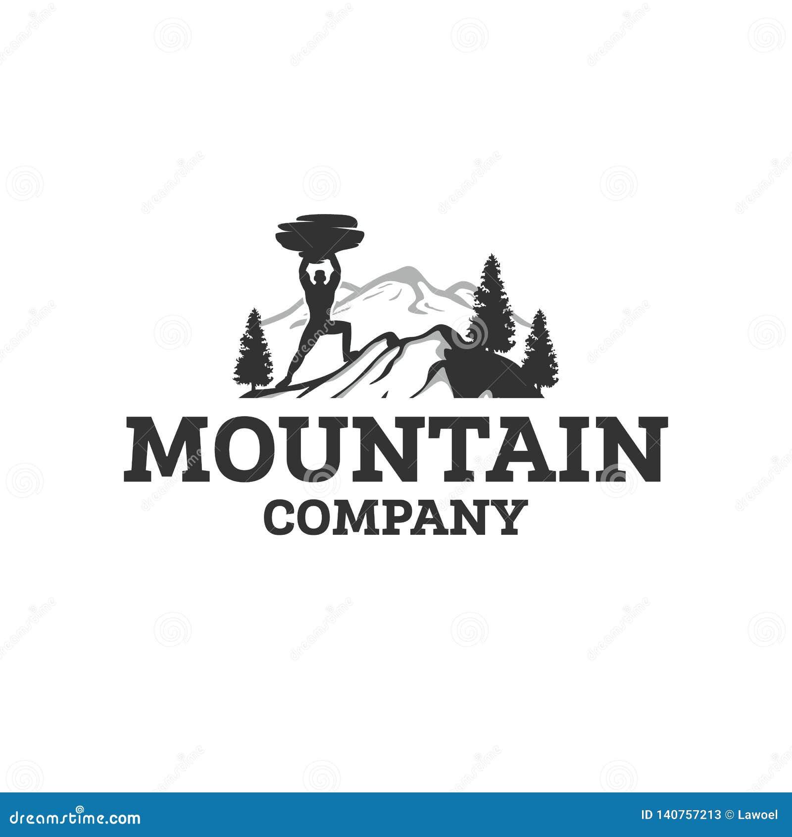 Designer för bergsportlogo