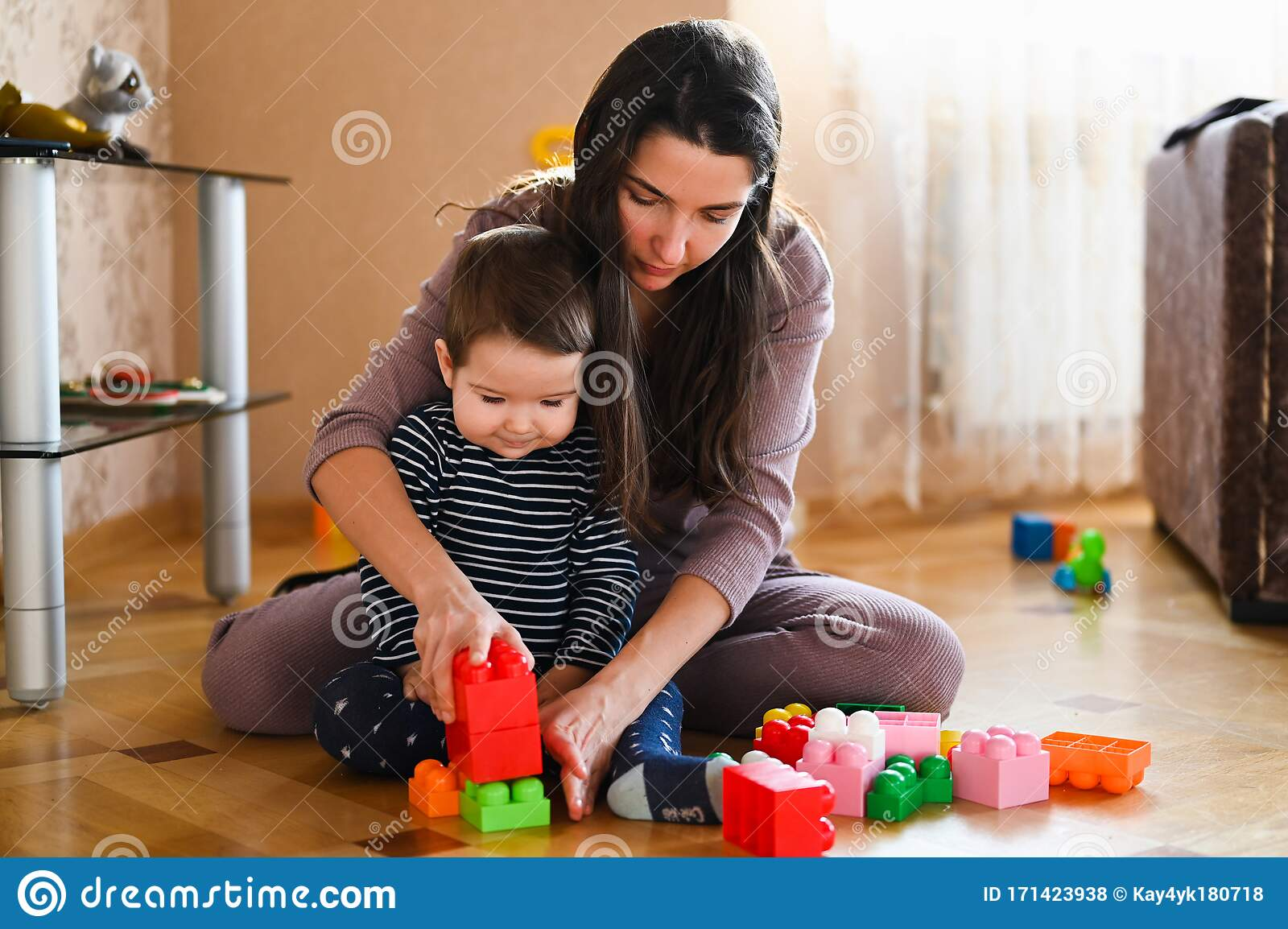 Designer Games Mom And Baby Baby Boy And Mother Playing Together