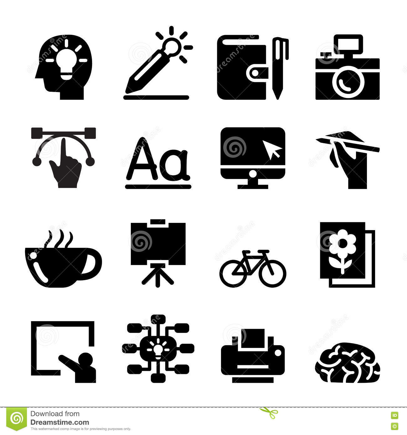 designer icon set stock vector illustration of explain 73848443