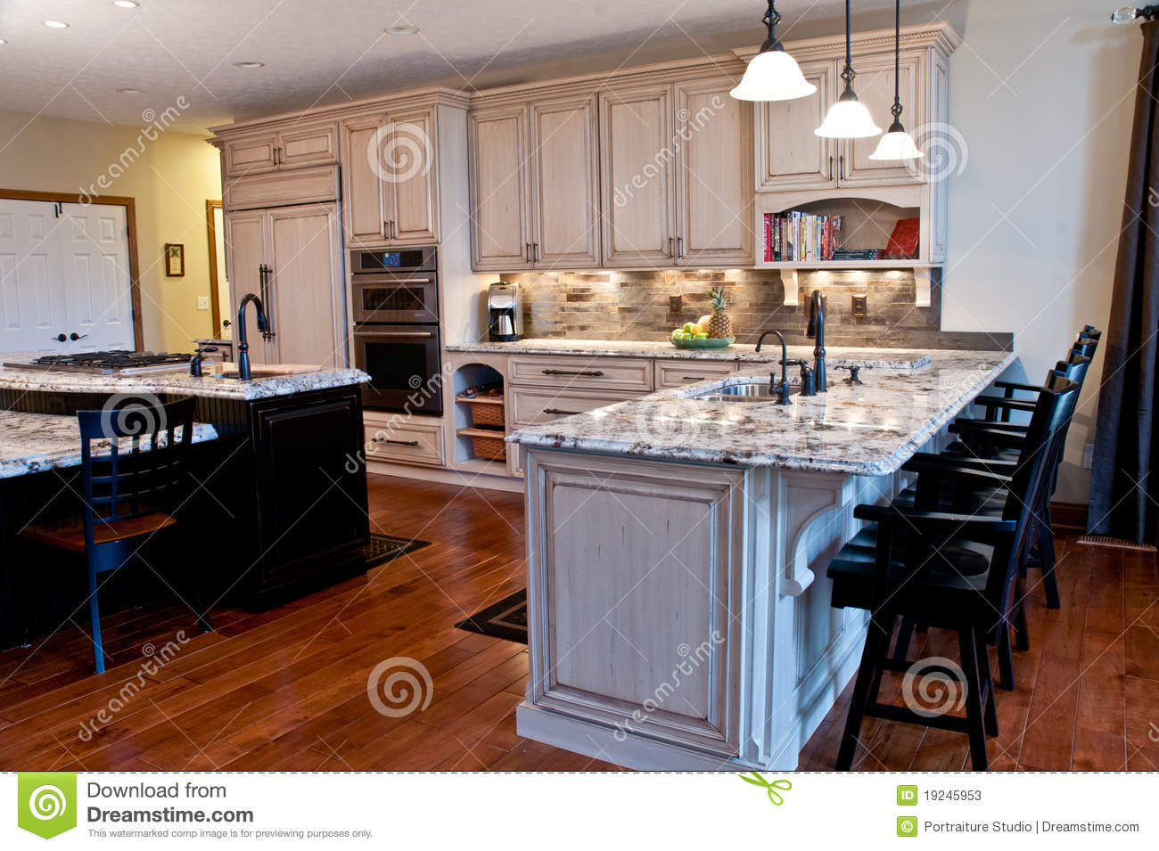 Designer Kitchen Stock Image Image Of Cabinetry Contemporary 19245953