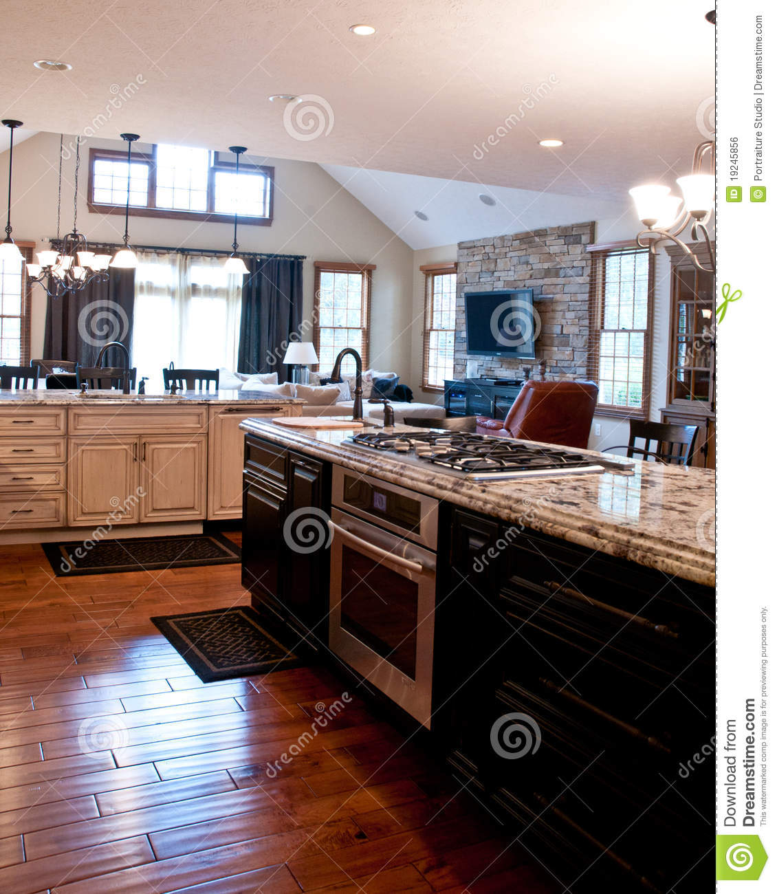 Kitchen Stove Top ~ Designer kitchen oven and stove top stock photo image