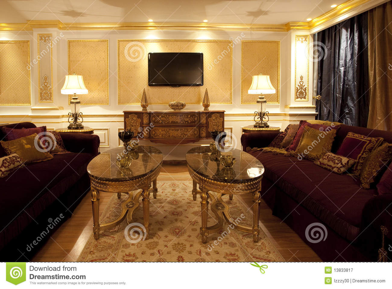 designer living room royalty free stock photography