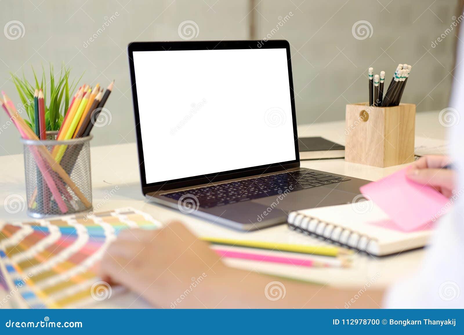 Designer using
