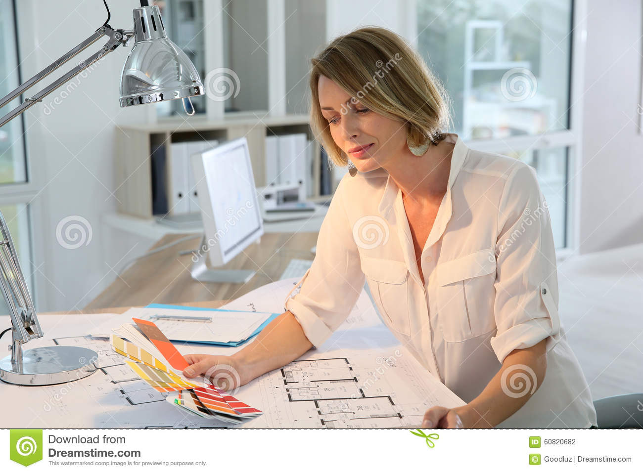 Decoration For Project Designer Working On Decoration House Project Stock Photo Image