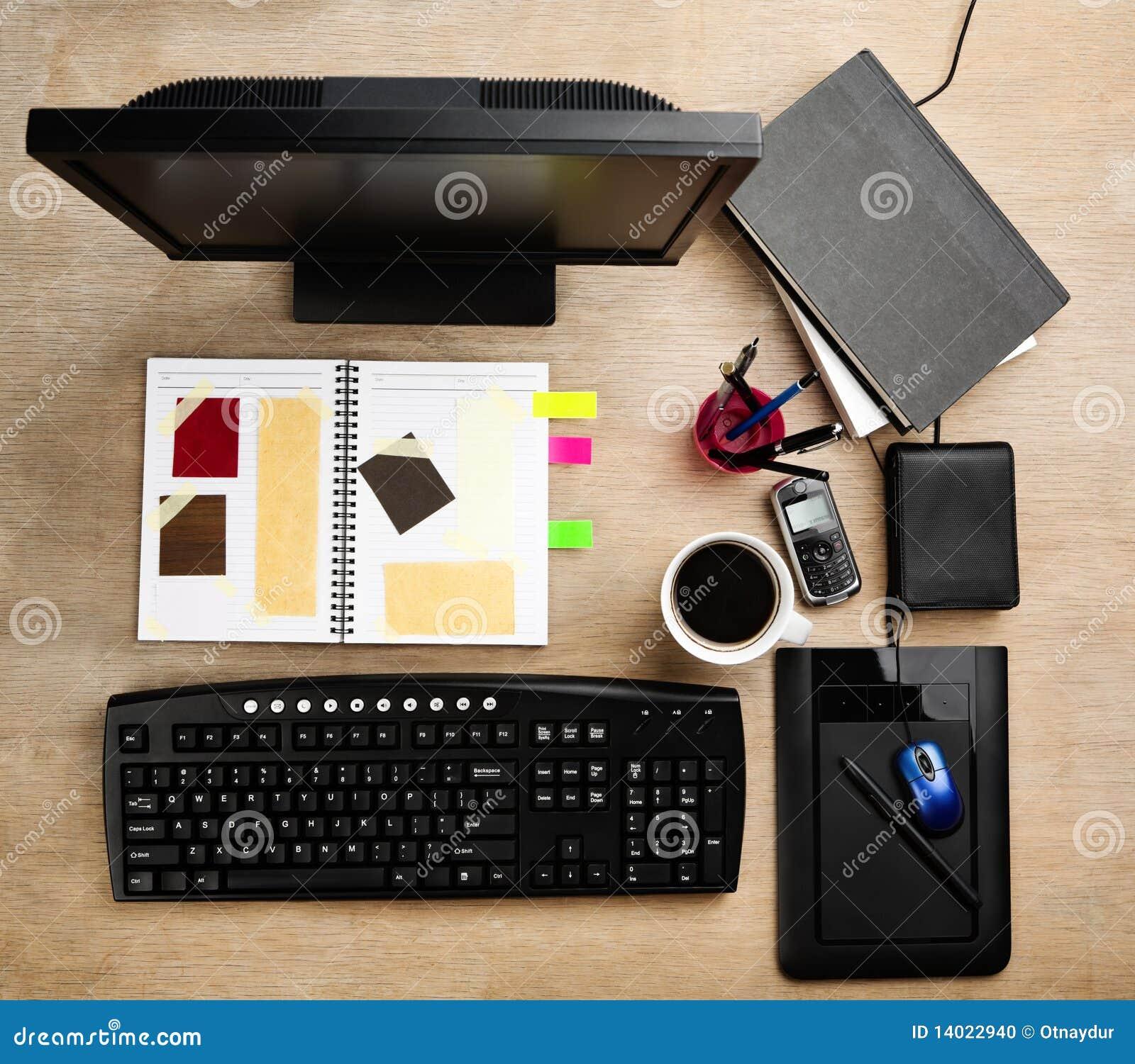 Designer Working Desk Stock Photo Image Of Colorful