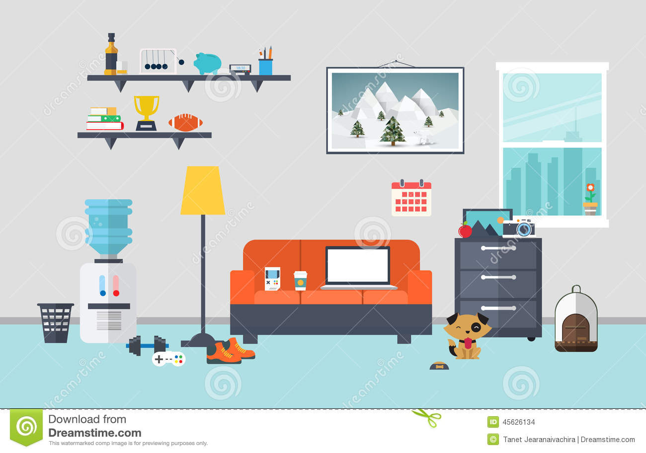 Designer workspace in the work room stock vector image for Office interior design software free download full version