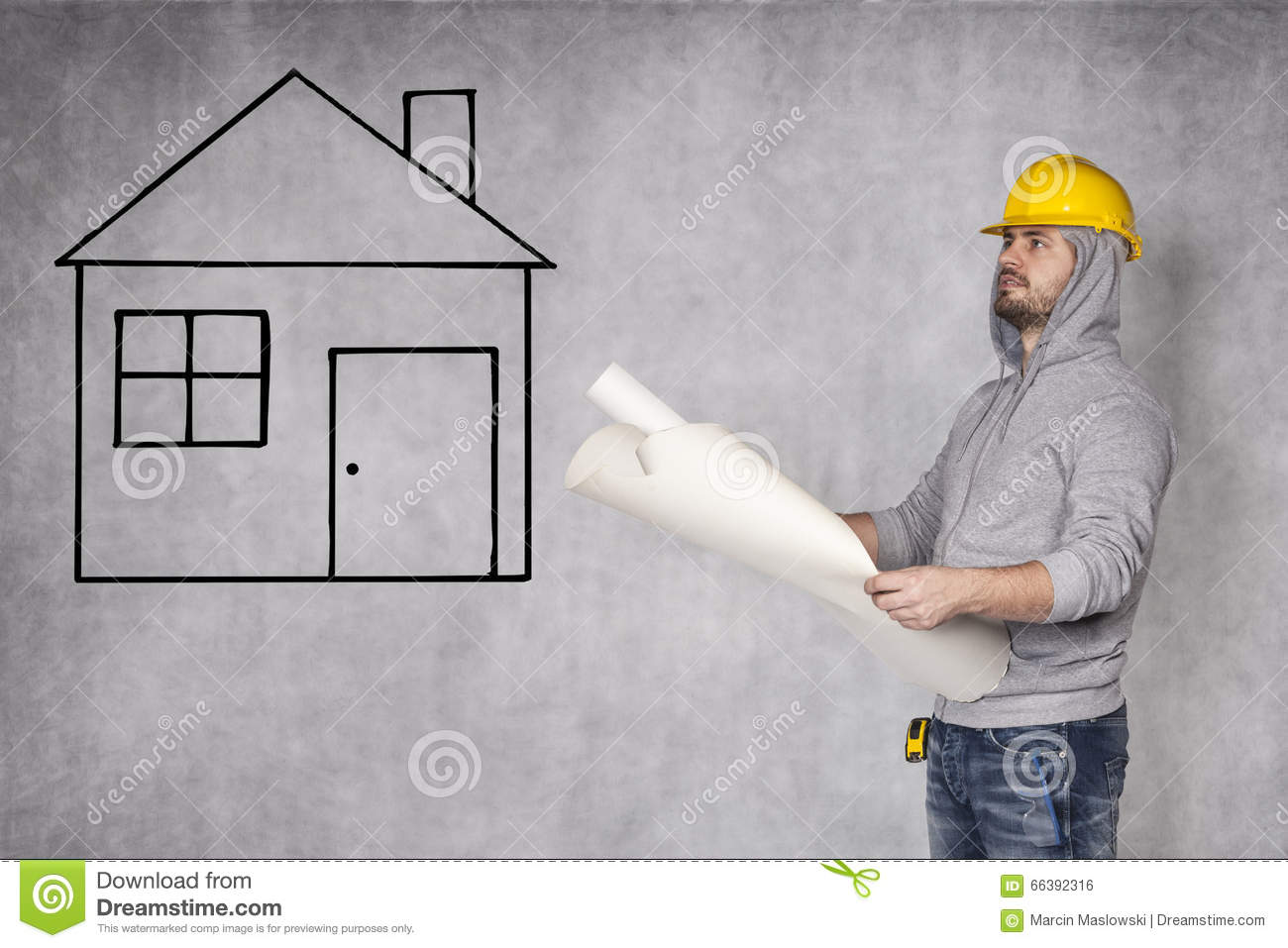 Designers Looking At House Plans Stock Photo   Image  Designers looking at house plans