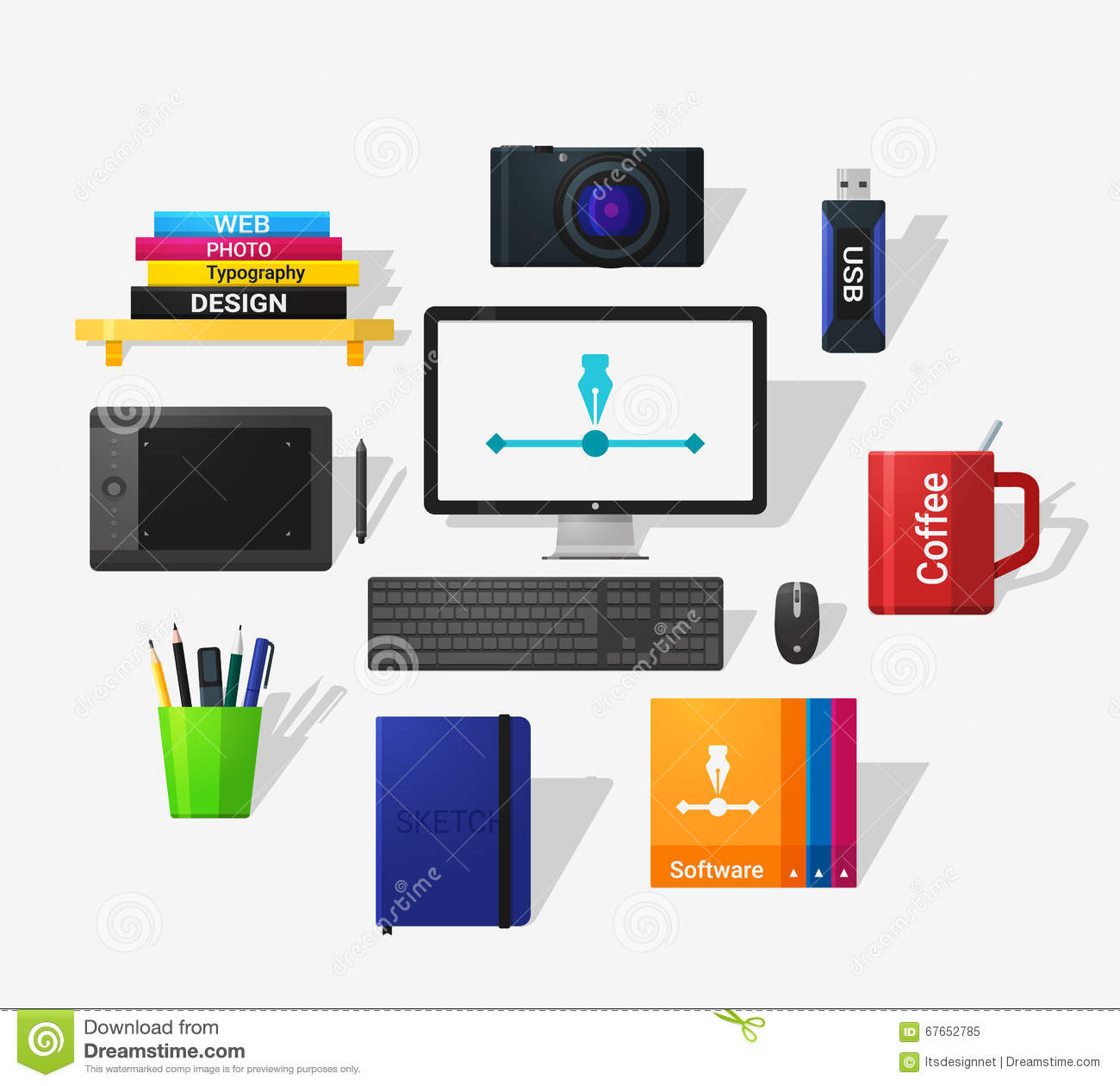 Designers Tools Stock Vector Image 67652785