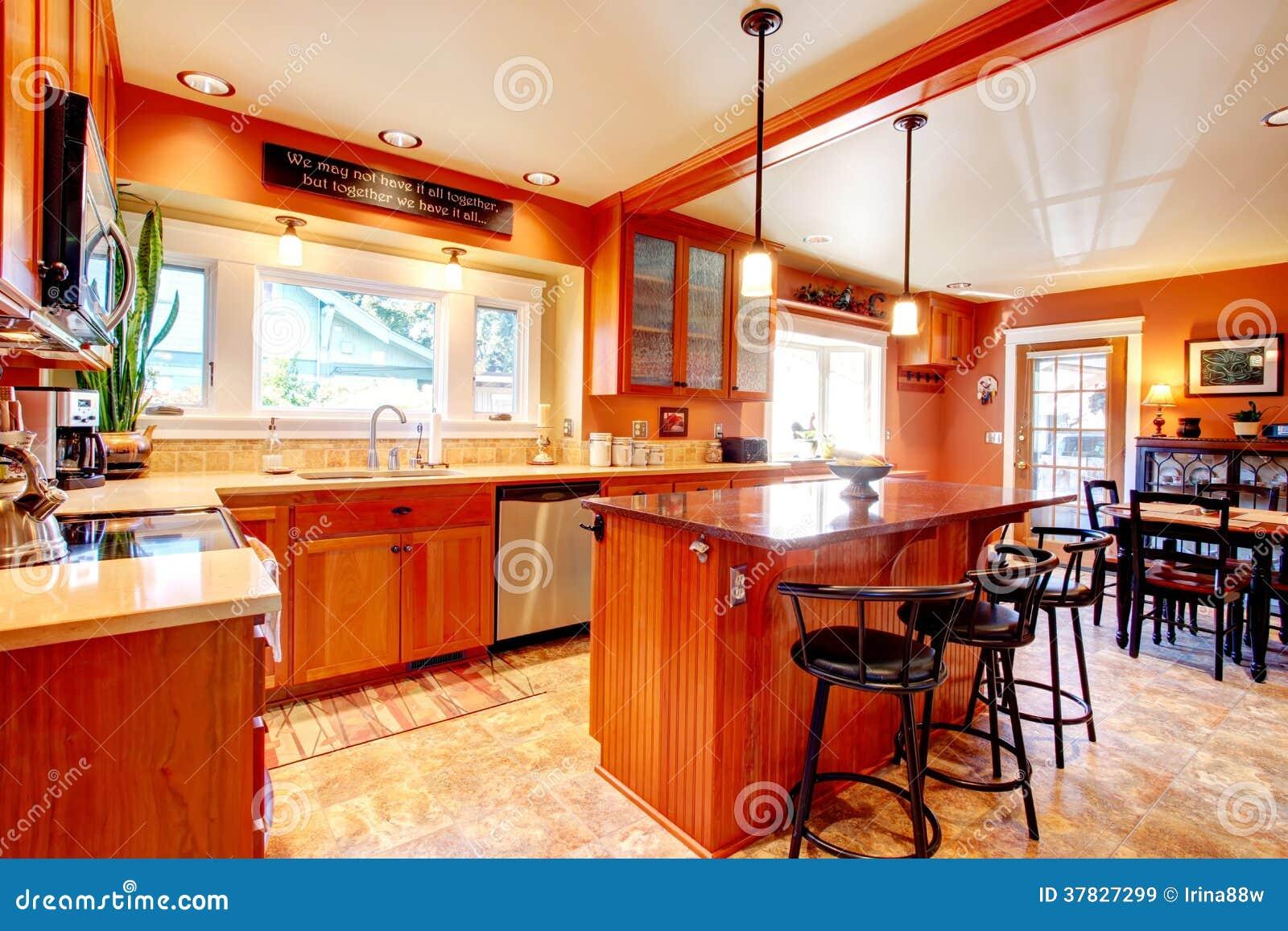 Designidee f r k che und esszimmer lizenzfreie stockbilder for Como disenar una cocina comedor