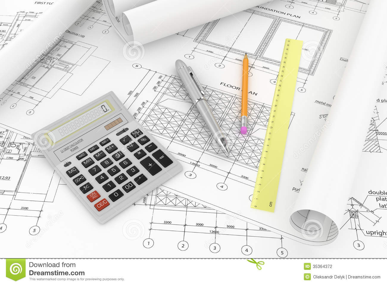 Designing of project stock illustration image of for Projet construction