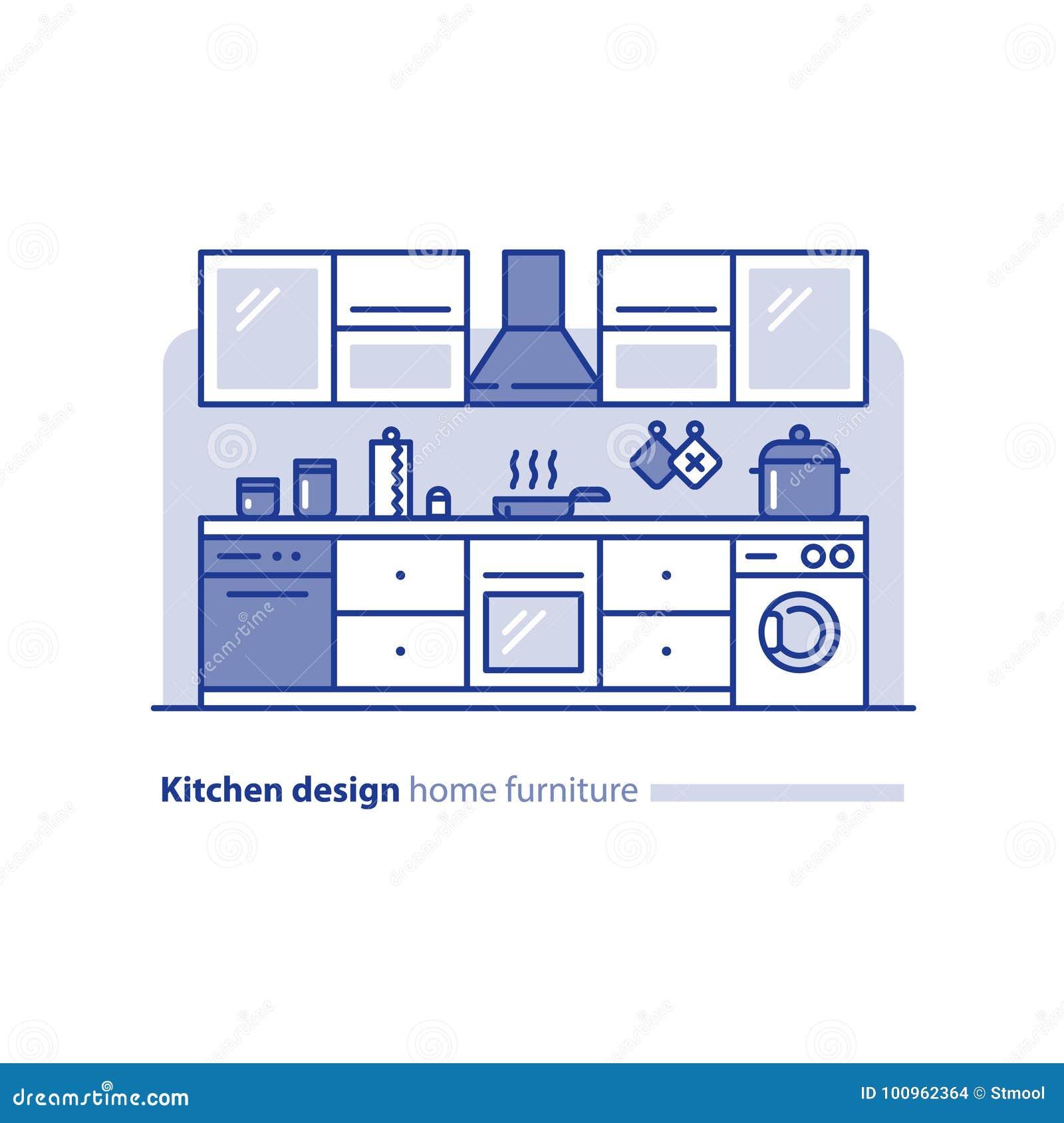 Designprojekt, kökmöblemang, ordning och planläggning, enkelhetsstätta