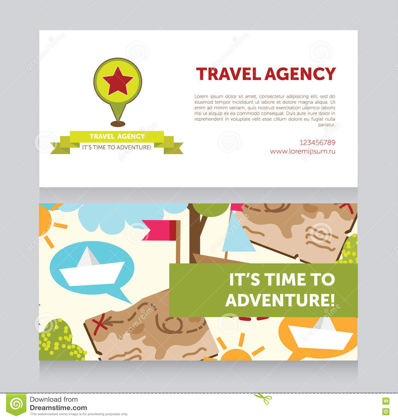 Designschablone für Reisebürovisitenkarte
