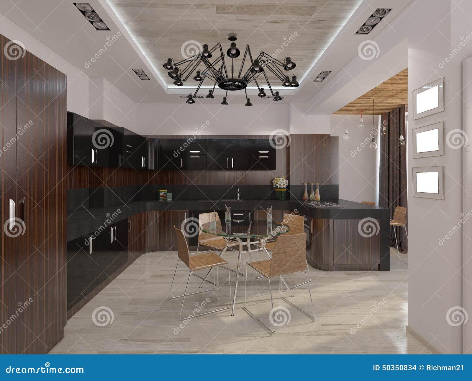 Designwohnzimmer mit warmen farben stock abbildung   bild: 50350834