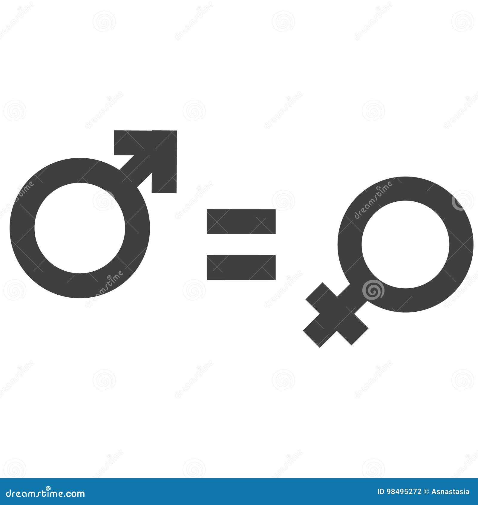 Desigualdad del g nero y s mbolo del icono de la igualdad icono hembra var n del hombre