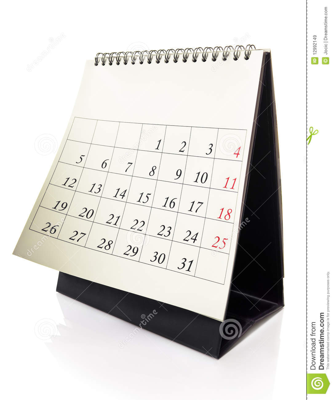Desk Calendar Royalty Free Stock Images - Image: 12992149