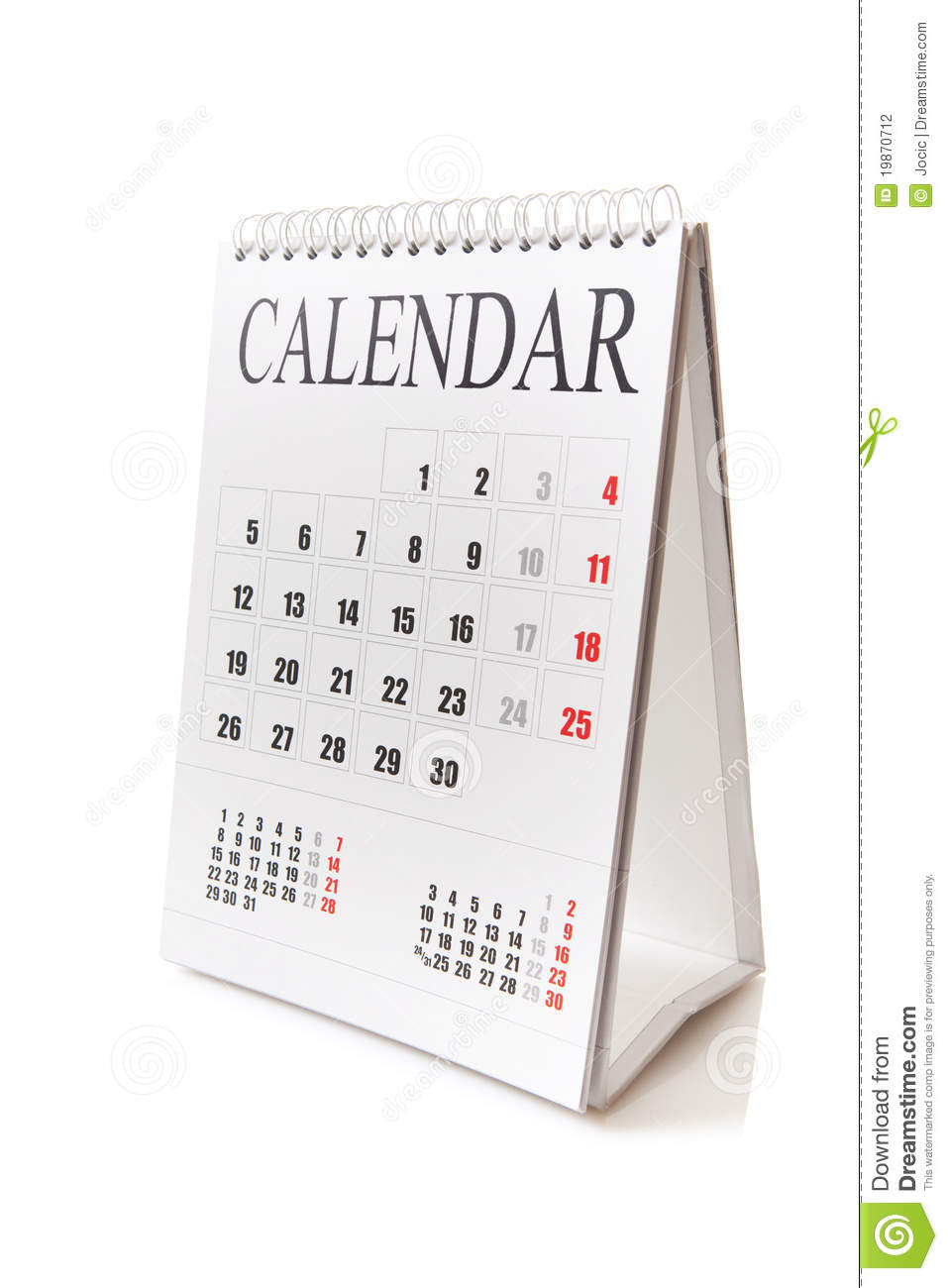 Desk Calendar Photography : Desk calendar stock photography image