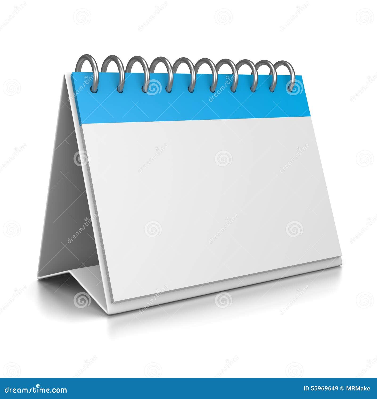 Calendar Illustration : Desk calendar d template stock illustration