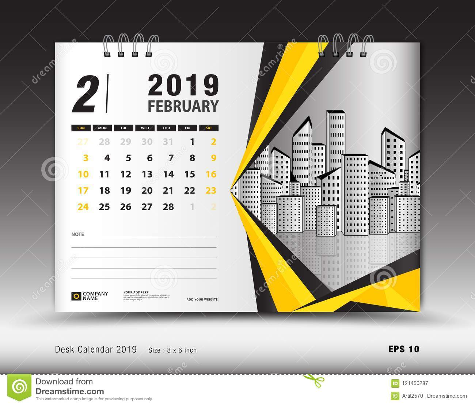 Desk Calendar For February 2019 Template Printable Calendar
