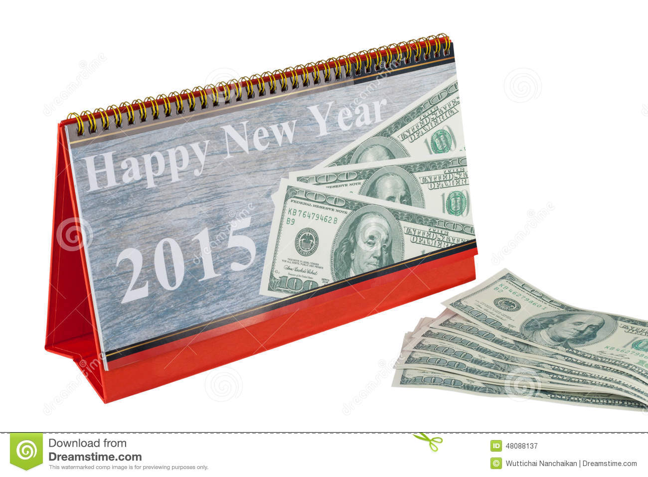 Happy New Year Calendar : Calendar of happy new year stock image