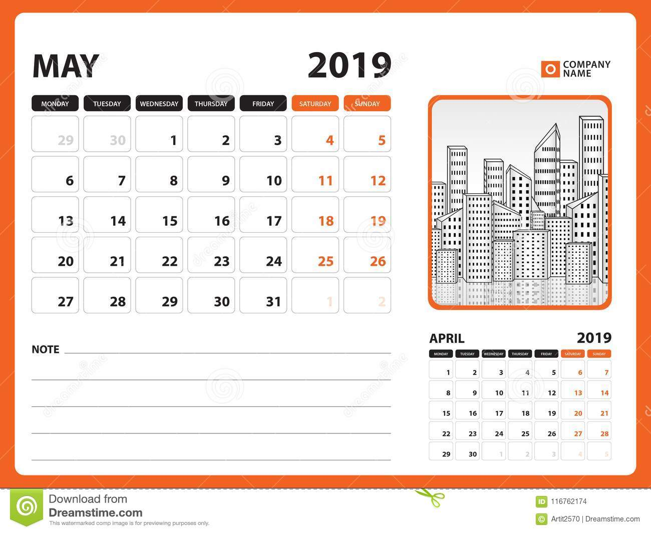 May Printable Calendar.Desk Calendar For May 2019 Template Printable Calendar Planner